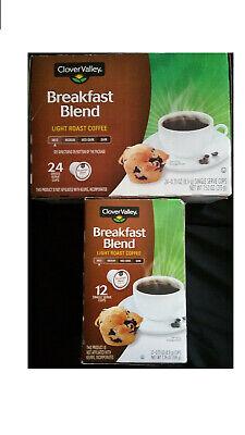 Clover Valley Breakfast Blend Light roast coffee (mild) 36cups pods