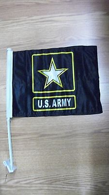 U S ARMY CAR FLAG  DOUBLE SIDED