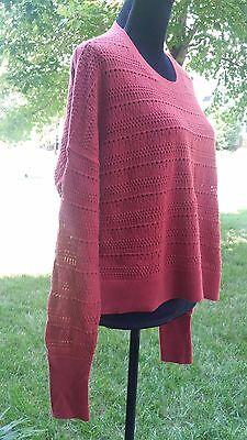 Women's Banana Republic Pointelle Boxy Dolman Sweater. Size -Medium,  Rust