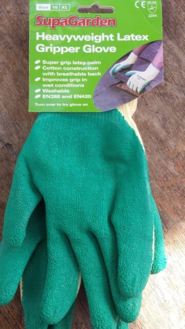 Garden Gloves Safety Work Gloves Gripper  SupaGarden  Glove