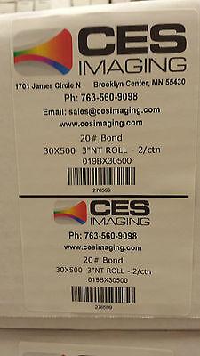2 Rolls 30x500 Plotter Paper Kip 3000 3100 5000 6000 7000 7100 7170 7700 7770