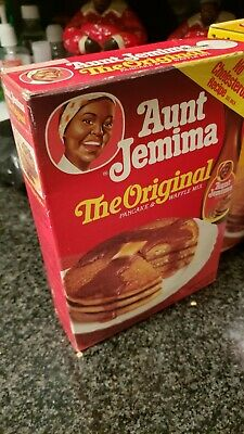 Vintage Aunt pancake original box label 1960s image