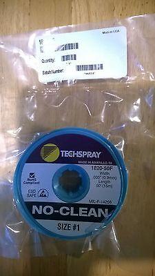 TechSpray desolder braid (solder wick) - 15m x 0.9mm