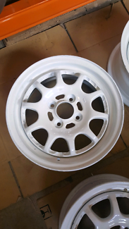 "Genuine set Sprint Hart CP 14"" 4x100 white jdm wheels rims"
