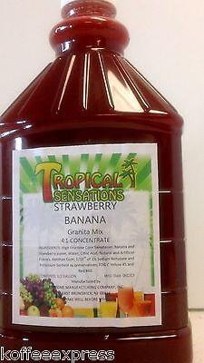 Granita Machine Frozen Drink 64 Oz Strawberry Banana Case Of 6 Bottles