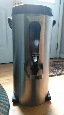 Fetco Luxus 3.0 Gallon Stainless Steel Iced Tea Dispenser