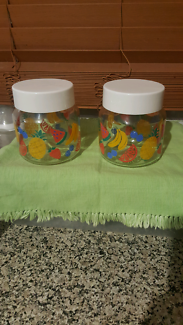 Glass storage containers x2