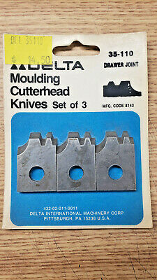 Delta 35-110 Moulding Cutterhead Knives - New Old Stock