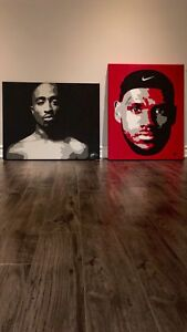 TUPAC AND LEBRON PAINTING