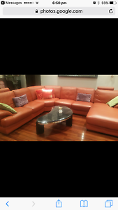 Near new 7 seater leather lounger Lugarno Hurstville Area Preview