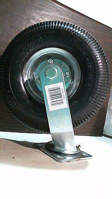 Shepherd 9796 10 Pneumatic Caster Wheel Swivel Plate Steel Hub W Ball Bearin