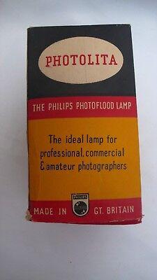 VINTAGE RETRO PHOTOLITA PHOTAX PHILLIPS PHOTOGRAPHY STUDIO LIGHT BULB 275W