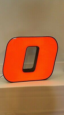 Letter O Retro Marquee Channel Letter O Vintage Sign Orange With Led Lights