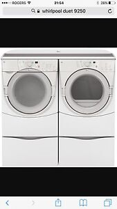 Whirlpool Duet Front Loading Washer and Dryer