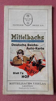 Mittelbachs Deutsche Reichs-Auto-Karte, Blatt 7g, Hof, um 1927, Mercedes Benz