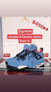 Jordan 4 Cactus Jack  size 13 men's shoes.