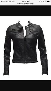 TWO BLACK LEATHER JACKETS LIKE NEW