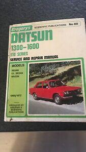 Gregory's Datsun******1600 service and repair book Kiara Swan Area Preview