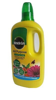 Miracle Gro Fast Growing Plant Food Feed All Purpose Concentrated LIQUID 1L