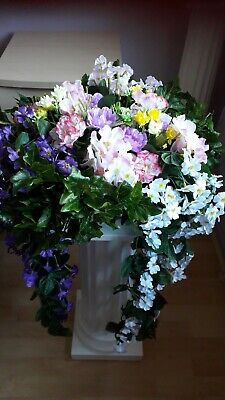 ARTIFICIAL FLOWER HANGING BASKET *** BEAUTIFUL ***