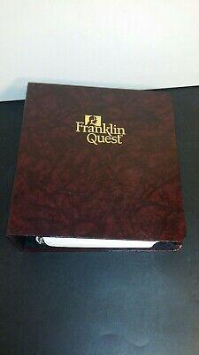 Vintage Franklin Quest Covey Classic Planner Wstarter Pages Ec