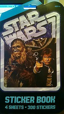 Star Wars Chewbacca & Hans Sticker Book 300 Stickers Yoda Party Favors Supplies](Yoda Party Supplies)