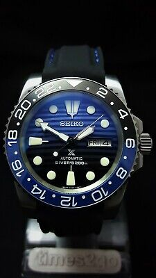 SUBMARINER DIVERS WATCH *MODDED with SEIKO NH36 Movement STUNNING Save the Ocean