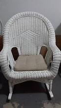 White Wicker Rocking Chair Fairfield West Fairfield Area Preview