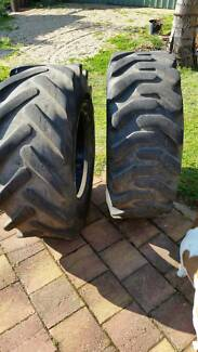 2x Tractor tyres - 12.5 x 80 x18 - 10 ply