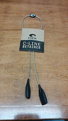 COSTA DEL MAR C-MONO C-LINE SUNGLASS RETAINER KEEPER  SILVER (Sunglasses Keeper)