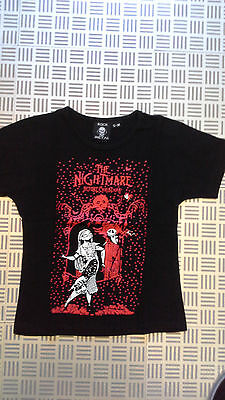 Nightmare before Christmas  T-Shirt größe Girly S-M Schwarz