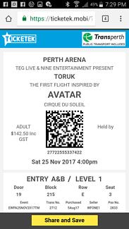 Toruk circus tickets