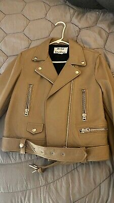 Acne Studios Mock Leather Jacket DE Size 40