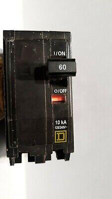 New Square D Qo260 Circuit Breaker Plug-in 60 Amp 2 Pole 120240 Vac