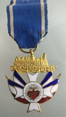 Medal of L'Association of Railway Workers Christians Cœur Sacré Jesus Locomotive