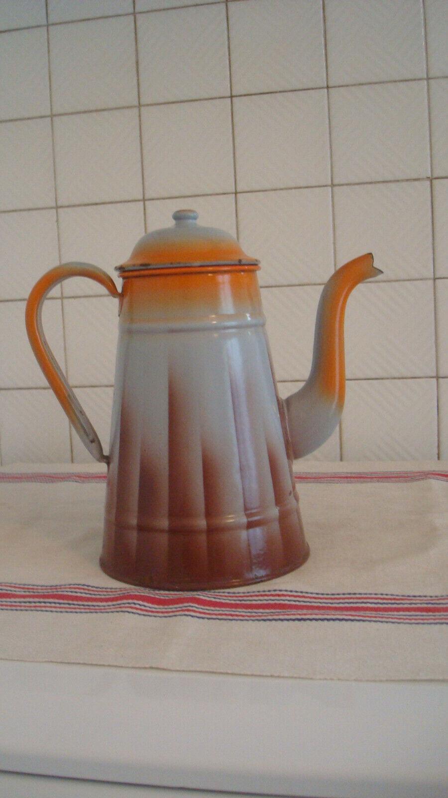 Cafetière émaillée ancienne allemande 84jv21