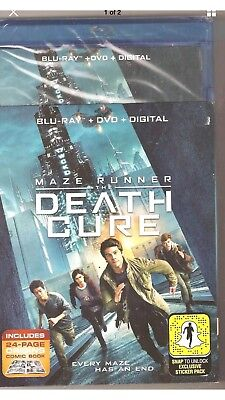 Maze Runner The Death Cure Blu-ray + DVD + Digital Brand New with Slip Cover