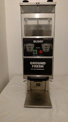 Lightly Used Bunn G9-2t Dbc Double Hopper Portion Control Coffee Grinder