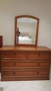 Solod Timber Dresser with Mirror Marsfield Ryde Area Preview
