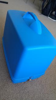 Blue sewing machine hard case