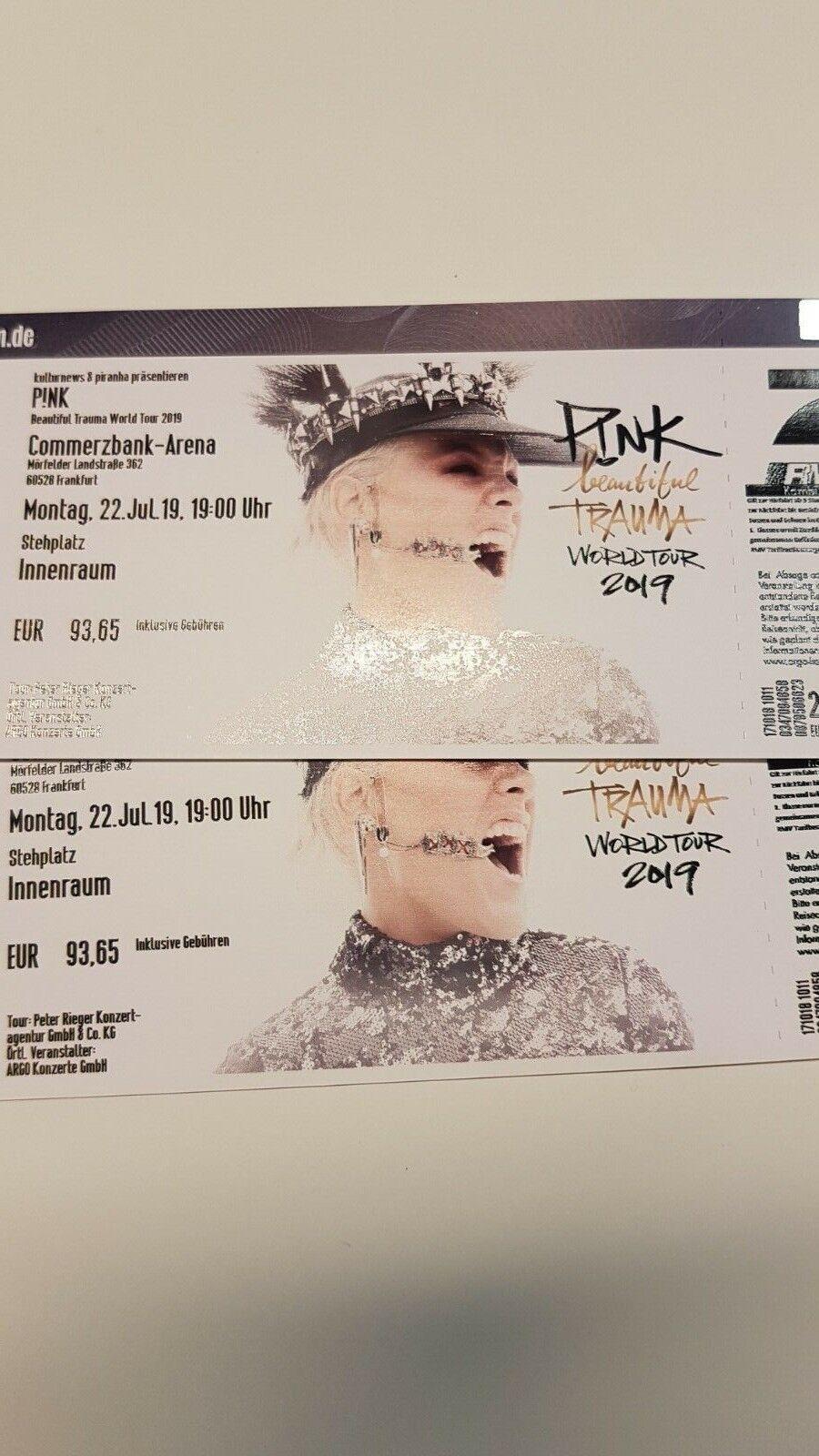 Pink Tickets Frankfurt  / 22. Juli 2019 / Stehplatz Innenraum