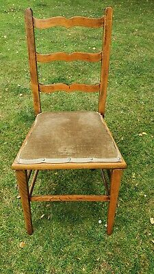 Antique Oak Hall Bedroom Dining Chair
