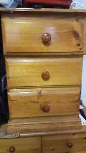 Solid Timber bedside drawers Lakemba Canterbury Area Preview