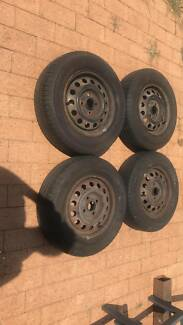 tyres NEW 13 inch with stock rims $120.00 ono