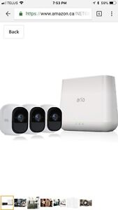 NETGEAR Arlo Pro Security System with Siren – 3 Rechargeable
