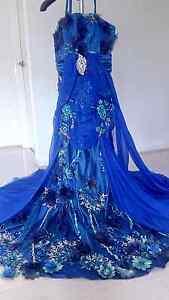 100% silk Royal Blue Embroidery Dress Duffy Weston Creek Preview