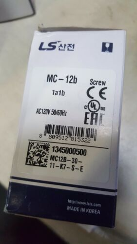 MC-12B LS Metasol Contactor MC012b/3-120 3 P 12 Amp 1 NA 1NO UL 120V (New)