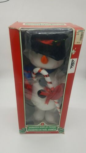 Vintage Telco Christmas Motionette 2ft Tall Snowman Animated Display Globe