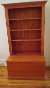 Timber Bookshelf with Storage Box Greenwich Lane Cove Area Preview