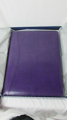 Royce Leather Shiny Leather Writing Portfolio Writing Pad Presentation Folder